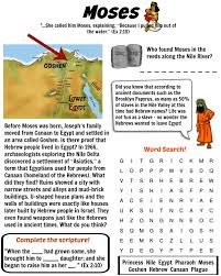 printable moses bible worksheet free download