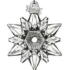 waterford mini snowflake ornament 2016 silver