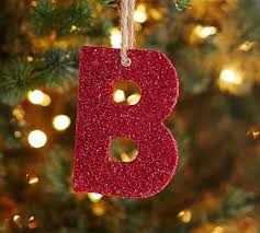german glitter alphabet ornaments pottery barn