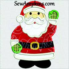 christmas applique santa claus applique christmas embroidery design 3 sizes standing