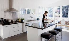 kitchen benchtop ideas black kitchen bench top white cupboards inspiration for home