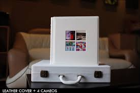 Wedding Albums And More Italian Collection Wedding Album White Cover With 4 Cameos