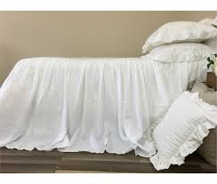 amazon com white bedspreads handmade in natural linen white bed