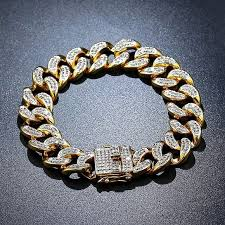 cuban chain bracelet images Accessories 14k icy 8 gold cuban chain bracelet poshmark jpg