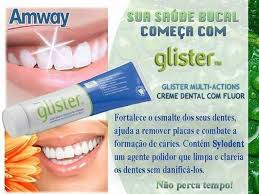 Popular Creme Dental Glister Amway - Desapega @HW75