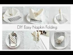 how to make table napkins easy napkin folding tutorials for beginners youtube