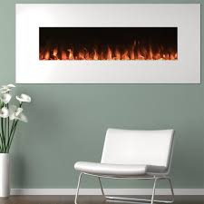 Free Shipping Home Decorators White Wall Mount Electric Fireplace U2014 10 Color Changing Flames 3