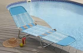 Patio Furniture Pvc - garden oasis pvc chaise lounge blue outdoor living patio