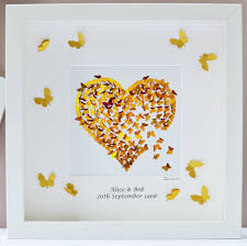 golden wedding anniversary golden wedding anniversary print wall by inkywool butterfly