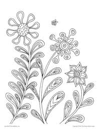 spring coloring pages for adults posh coloring studio