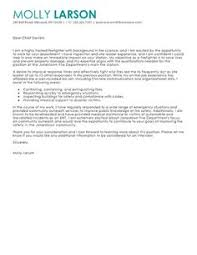 Cover Letter For Resume Samples by Firefighter Cover Letter Example Cover Letter Example Letter