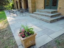 Backyard Steps Ideas Patio Steps Thermaled Bluestone And Constructed Ideas Singular