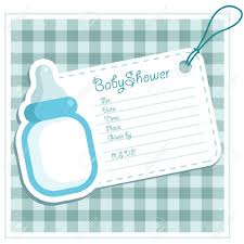 baby boy shower bottle invitation card royalty free cliparts