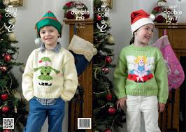 king cole 3807 childrens christmas jumper pattern only 1 left