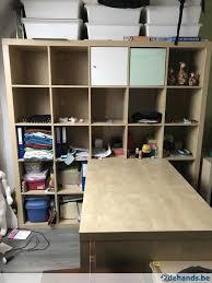 ikea bureau expedit ikea expedit kallax 5x5 vakken berk met bureau te koop 2dehands be