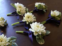 Gold Boutonniere Wedding Flowers White Blue Gold Boutonniere Studio Choo