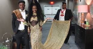 coming to america wedding dress this slayed prom with coming to america themed gown