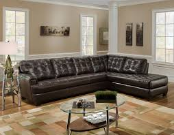 Tufted Brown Leather Sofa L Shape Brown Leather Chicory Brown Tufted Top Grain