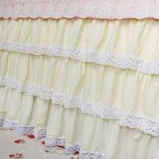 White Ruffle Bed Skirt Lace Bed Skirt