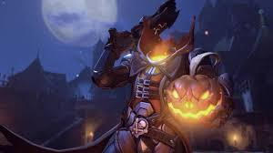 live halloween wallpapers for desktop overwatch reaper pumpkin skin animated wallpaper 1440 60fps