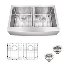 Apron Sinks At Lowes by Shop Superior Sinks 20 75 In X 32 825 In Brushed Satin Double