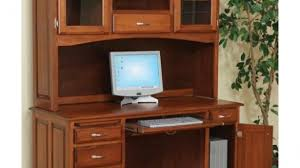 wood computer desk with hutch awesome solid wood bridgefort mission corner desk and topper