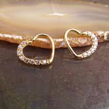 gold piercing rings images Heart daith earring 16g ear piercing ring gold hearts clear gem pierci jpg