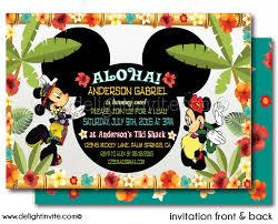 mickey mouse luau printable birthday invitation di 354dp