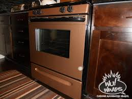 fridge stove mircowave dishwasher wrapped in 3m di noc me380