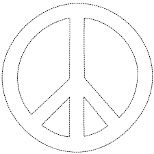 printable peace sign coloring pages coloring pages kids collection