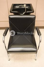 salon sink and chair hair salon a hair washing sink and chair royalty free stock image