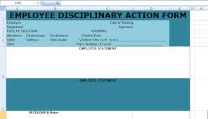 get employee disciplinary action form spreadsheet u2013 excel