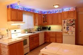 Kitchen Cabinet Faux Stained Glass And LED Lighting  Steps With - Faux kitchen cabinets