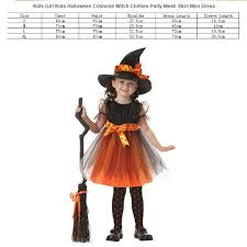 kids halloween costume witch clothes party mesh skirt mini