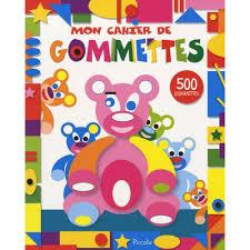 mon cahier de cuisine mon cahier de gommettes ours livre jeux et coloriages cultura