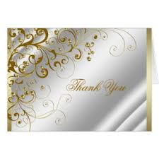 gold anniversary thank you note cards gold anniversary thank you