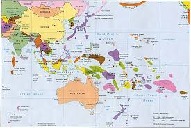 asia map and countries east asia and oceania map oceania country map oceania map with