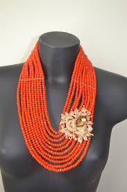 gold orange necklace images Orange and gold bead necklace set jo oj JPG