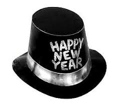 new years supplies bulk new year themed hats party supplies black hihat silver