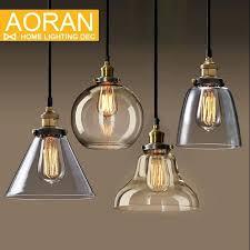Hanging Light Bulb Pendant Pendant Light Lamp Shade Light Bulb Pendant Light Copper Glass