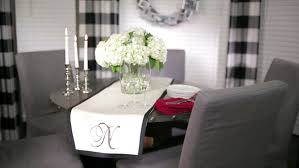 no sew table runner video hgtv