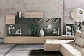 contemporary living room wall unit oak magnetically fixed
