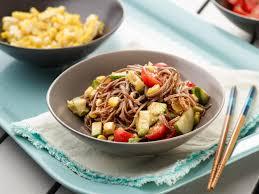 cold soba noodle salad with creamy sesame dressing u2014 meatless