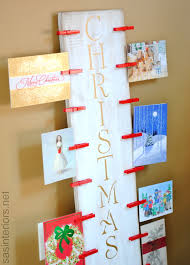 create a christmas card christmas card holder a lowes creative idea lowescreator