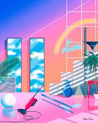 80s design japanese vaporwave illustrations of 80 u0027s americana by yoko honda