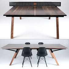 Ping Pong Conference Table The Woolsey Walnut Wood Ping Pong Table Dining Table