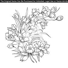pictures of bouquet with drawing flower bouquet coloring pages