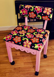 arrow cabinets sewing chair pink gingerbread sewing chairs with newcastle floral fabric