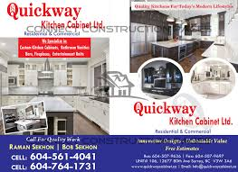 quickway kitchen cabinet ltd connect construction
