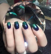 fun nails on my beautiful sister in law glitter bitten beauty